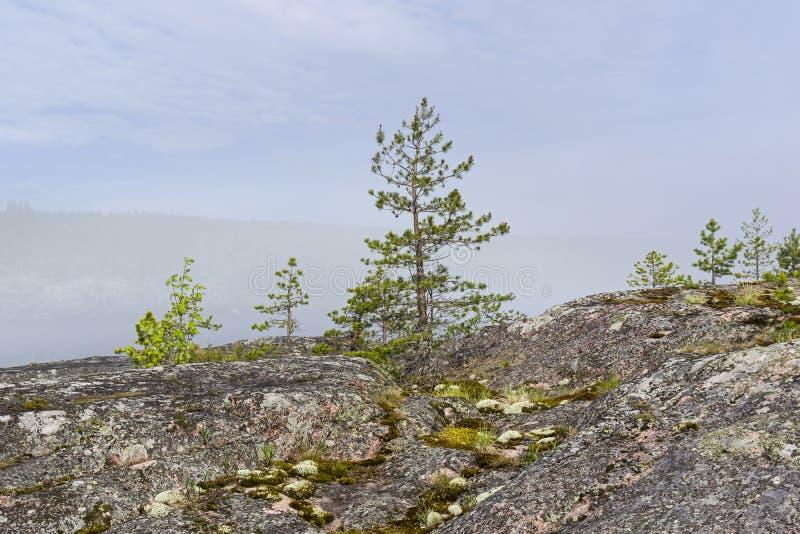 Редкое явление погоды - облако на поверхности озера дальше стоковое изображение