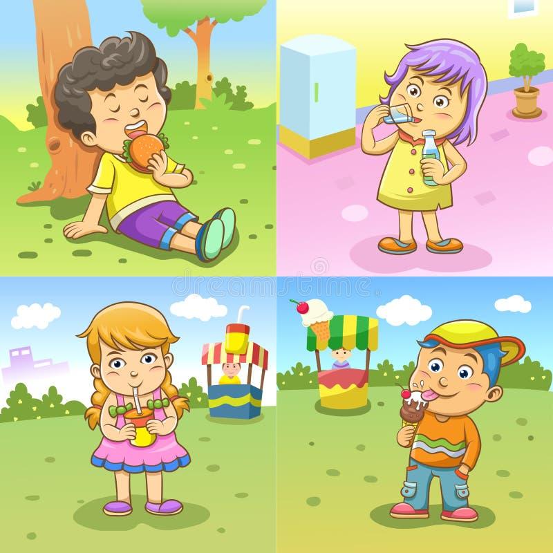 Режимы деятельностям при ребенка иллюстрация вектора