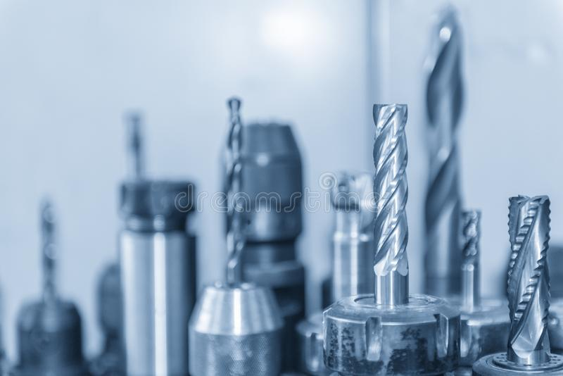 Режущий инструмент для подвергать механической обработке CNC стоковое фото