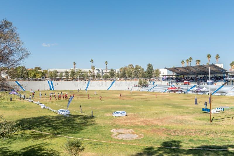 Резвитесь стадион средней школы Виндхука, основанный 1917, в Виндхуке стоковое фото rf