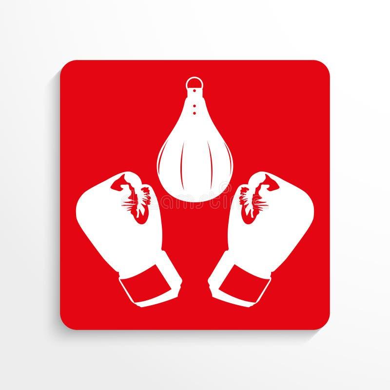 Резвит символы кладя зацепляет икону Красный цвет и белизна отображают на светлой предпосылке с тенью бесплатная иллюстрация