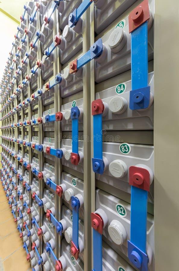 Резервная электрическая система, конец-вверх. стоковое изображение