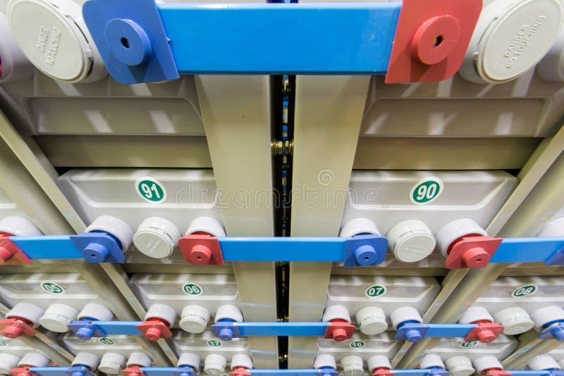 Резервная электрическая система состоя из много батарей стоковое изображение rf