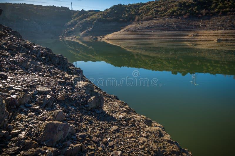 Резервуары во времена засухи в Zamora Испании стоковая фотография rf