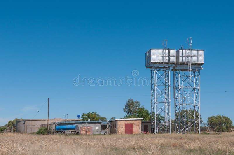 Резервуары воды в Boshof стоковое фото rf