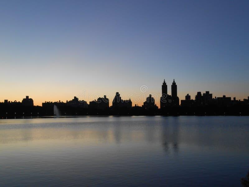 Резервуар Жаклина Кеннеди Onassis в Central Park, Нью-Йорке стоковое фото rf