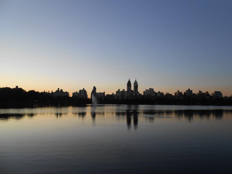 Резервуар Жаклина Кеннеди Onassis в Central Park, Нью-Йорке стоковое изображение rf