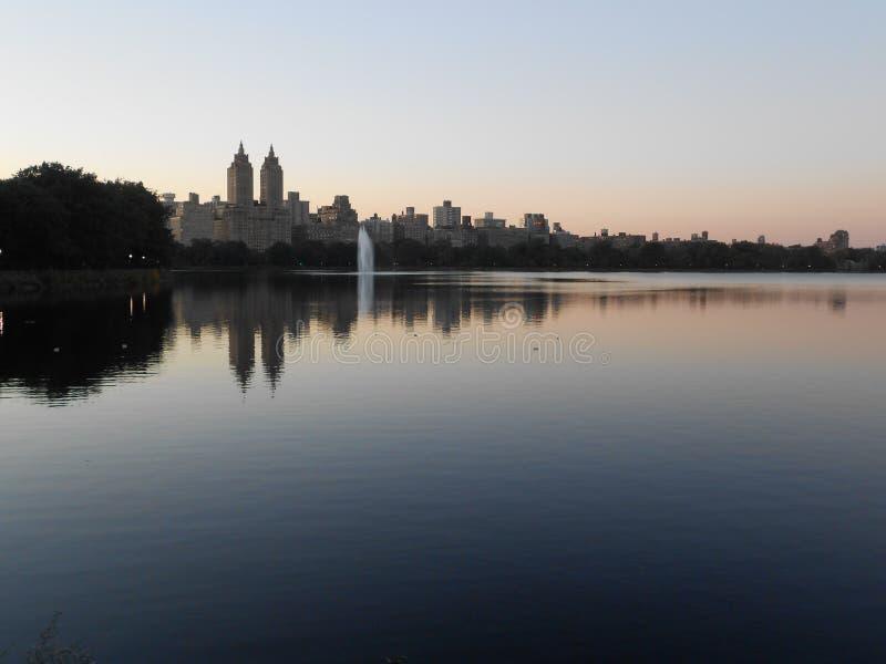 Резервуар Жаклина Кеннеди Onassis в Central Park, Нью-Йорке стоковое изображение