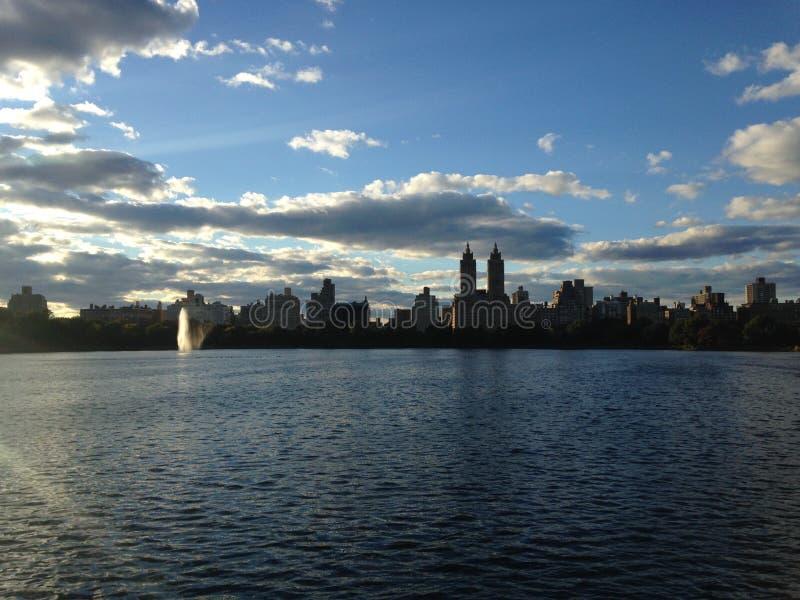 Резервуар Жаклина Кеннеди Onassis в Central Park, Нью-Йорке стоковые фотографии rf