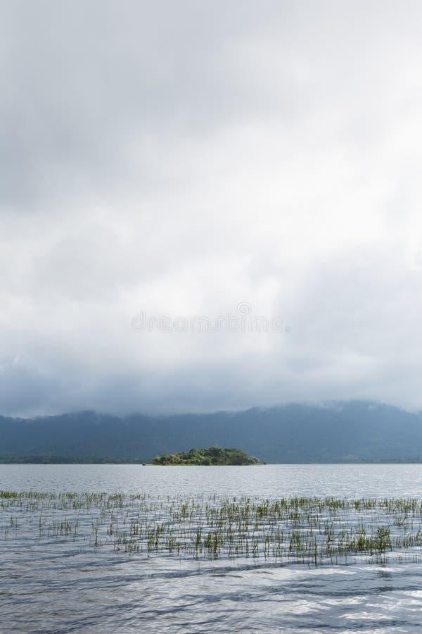 Резервуар прикрепленный к горам и лесам стоковые изображения rf