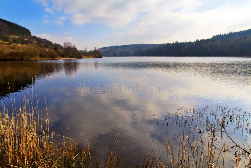 Резервуар Cantref, Nant-ddu, Brecon светит национальный парк стоковые фото