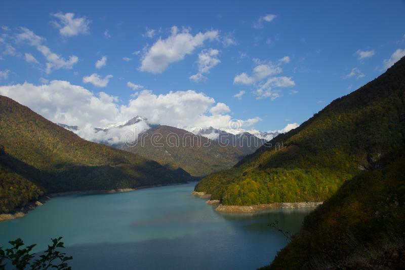 Резервуар Inguri в Svaneti, Georgia стоковое изображение rf