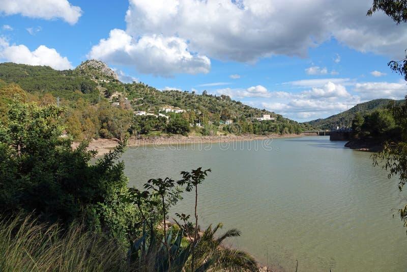 Резервуар Tajo на Caminito del Rey в Андалусии, Испании стоковые изображения