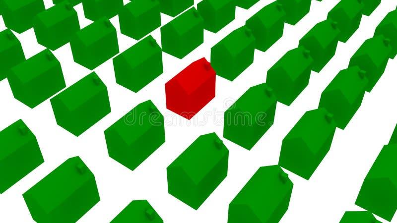 Резиденция экологических домов - иллюстрация 3D бесплатная иллюстрация