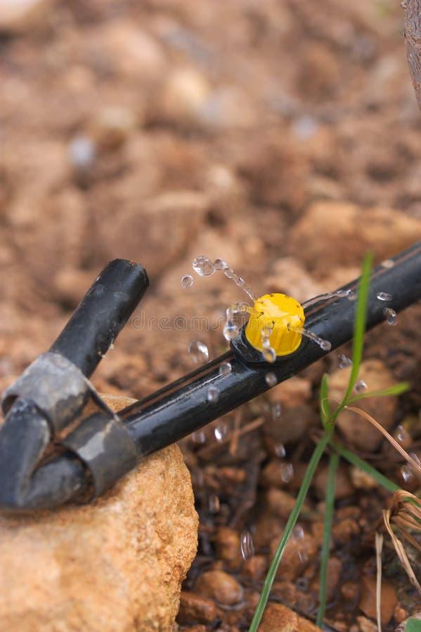 Резина потека со спринклером моча землю стоковое фото rf