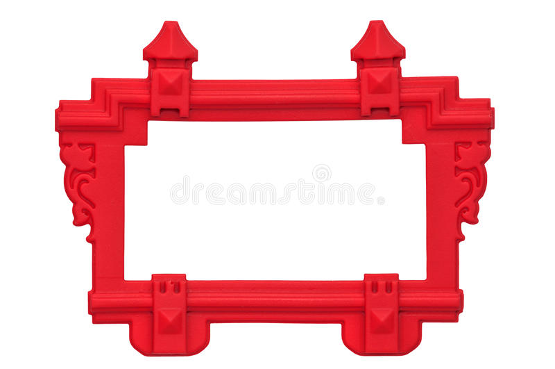 Резиновая красная рамка стоковое изображение rf