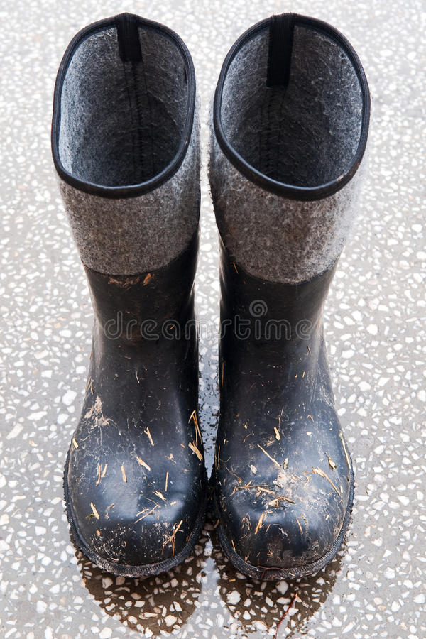 резиновые ботинки стоковые фотографии rf