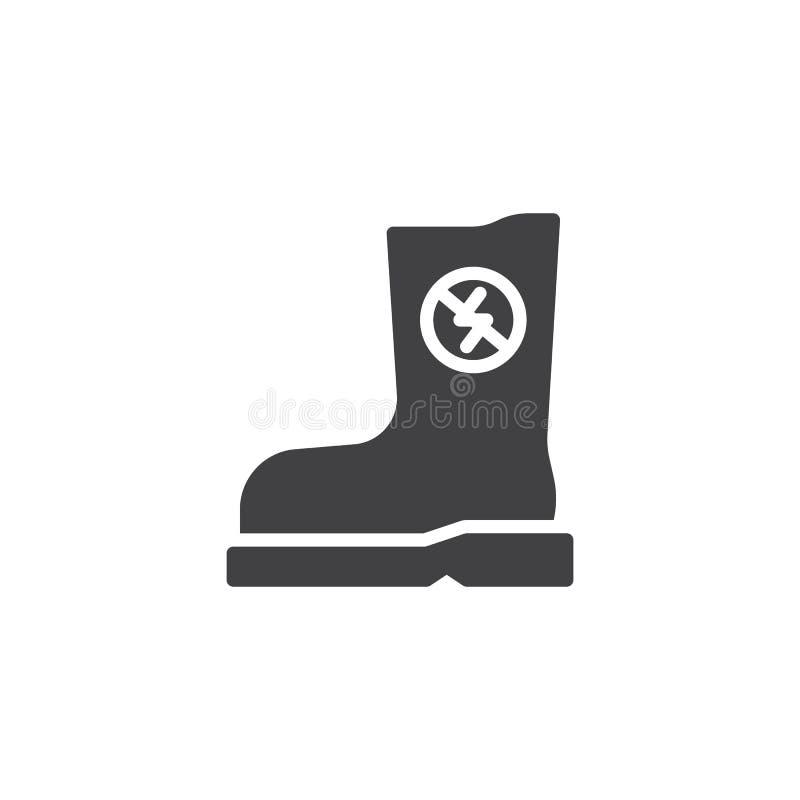 Резиновый противостатический значок вектора ботинка иллюстрация штока