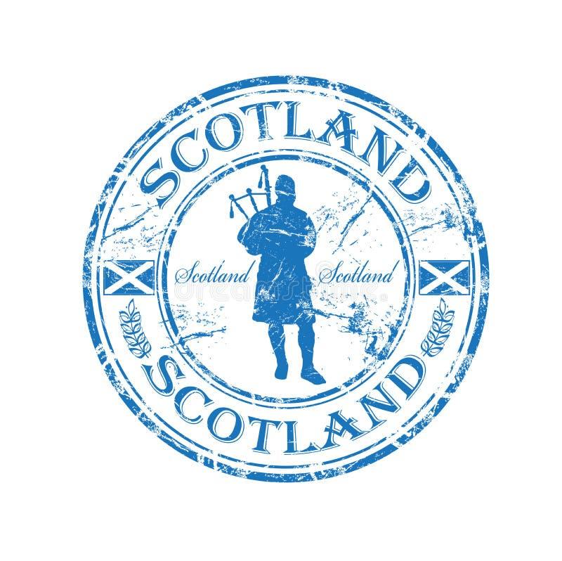 резиновый штемпель Шотландии иллюстрация штока