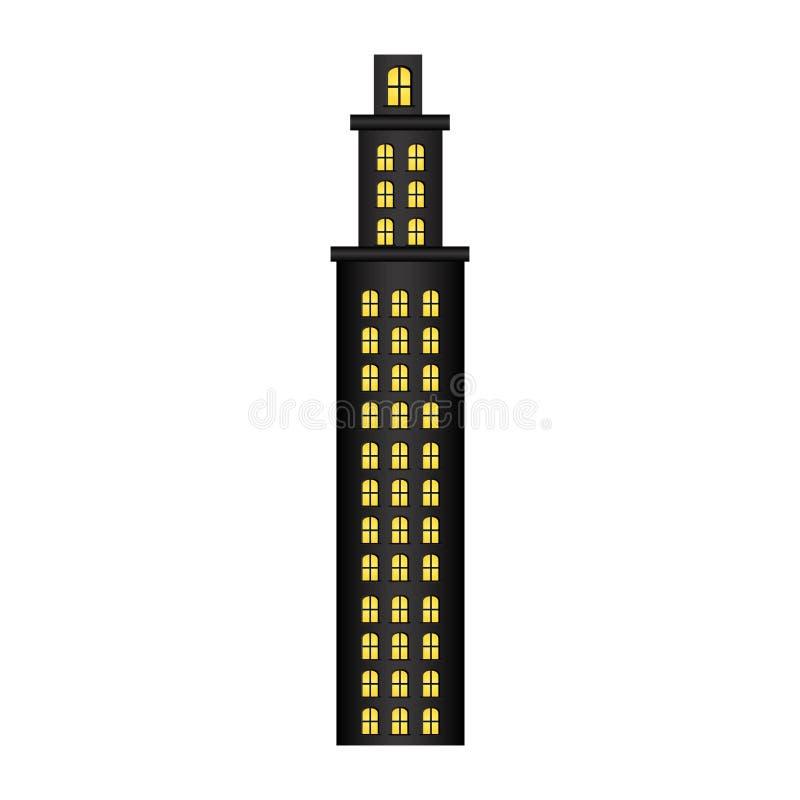 резиденция башни с несколькими полов иллюстрация штока