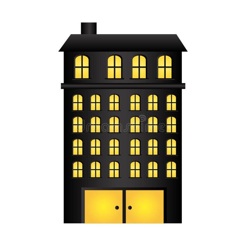 резиденция зданий с несколькими полов бесплатная иллюстрация