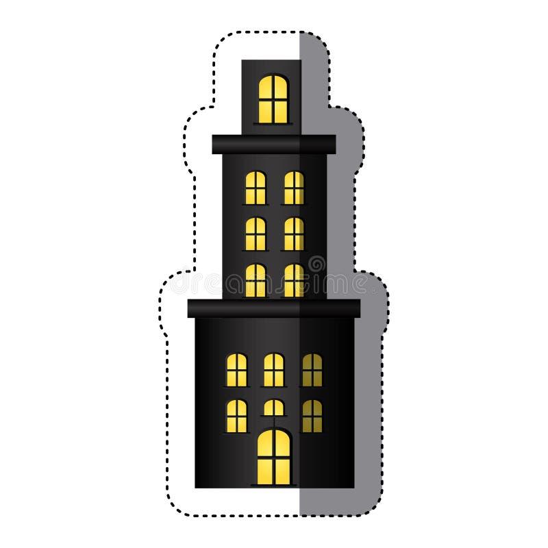 резиденция квартиры стикера с несколькими полов бесплатная иллюстрация