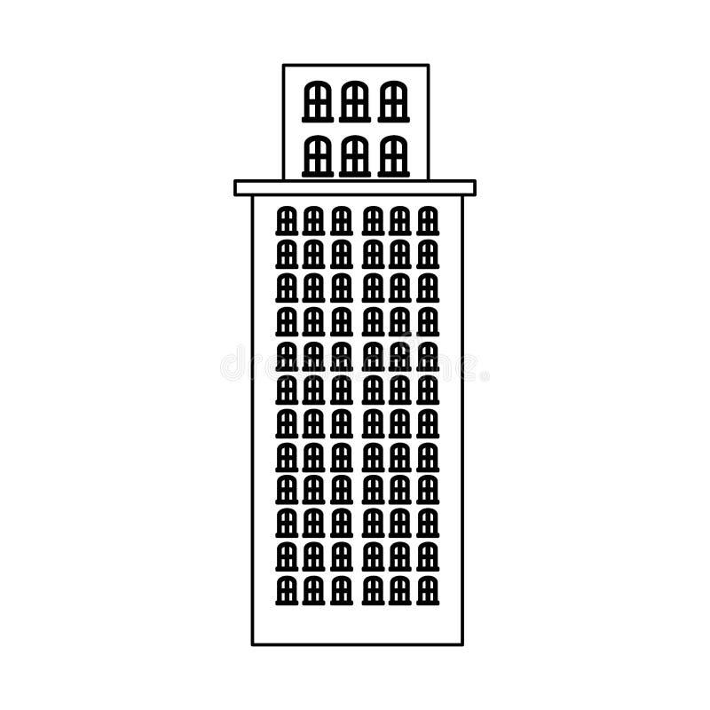 резиденция небоскреба силуэта с несколькими полов бесплатная иллюстрация