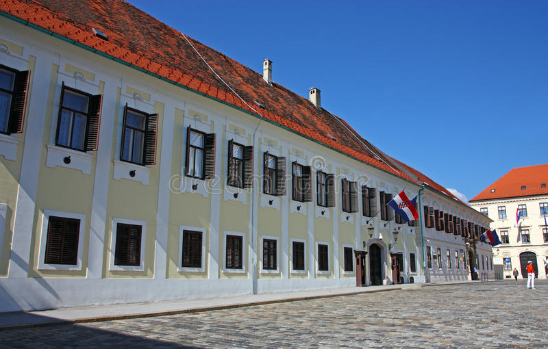 Резиденция правительства Хорватии стоковое изображение