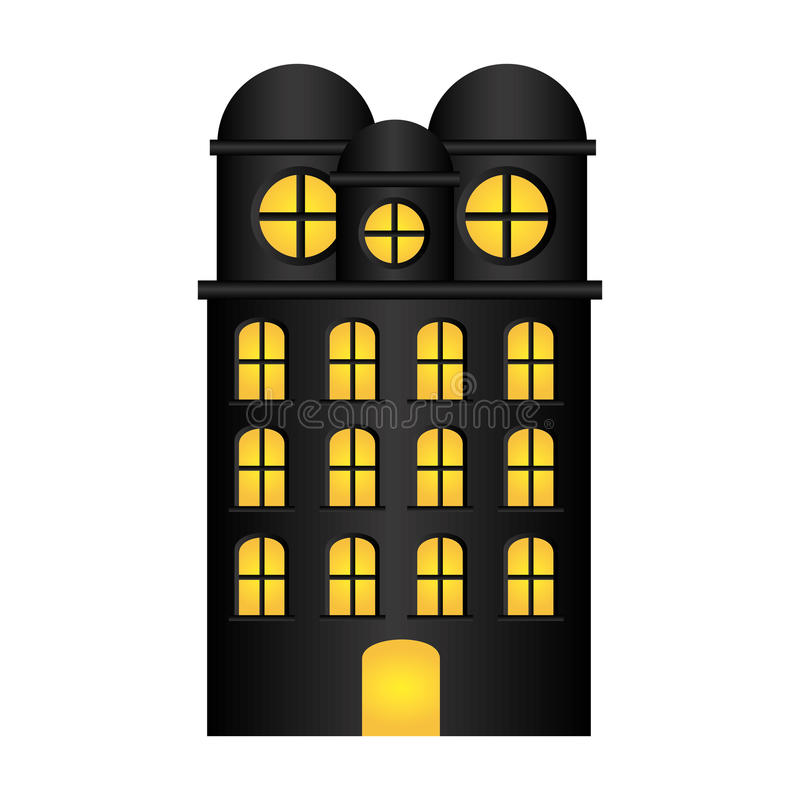резиденция строения с несколькими полов иллюстрация вектора