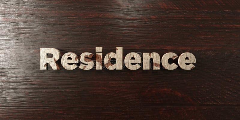 Резиденция - grungy деревянный заголовок на клене - представленное 3D изображение неизрасходованного запаса королевской власти бесплатная иллюстрация