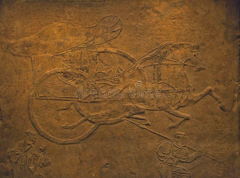 Резное изображение в стенах на китайском виске. стоковые фото
