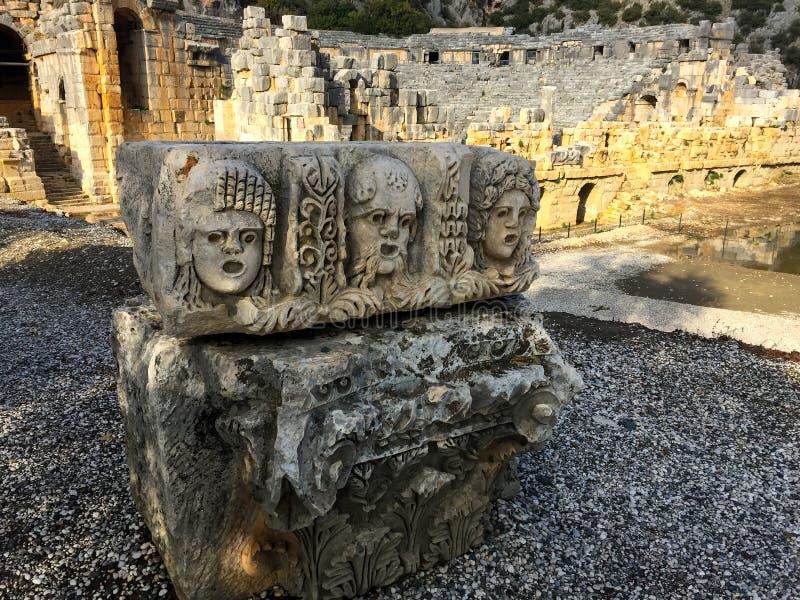 Резное изображение древнегреческия стоковая фотография
