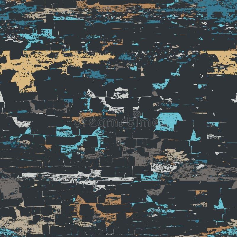 резюмируйте вектор предпосылки безшовный Покрашенная деревянная поверхность стены Multicolor предпосылка универсалии grunge бесплатная иллюстрация
