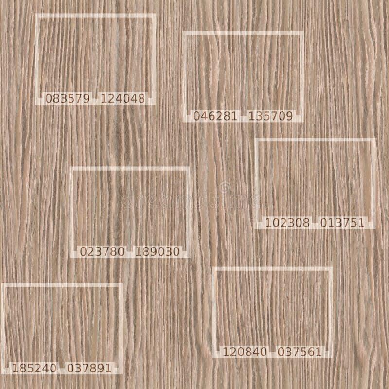 Резюмируйте взорванную текстуру паза дуба деревянную - безшовную предпосылку иллюстрация штока