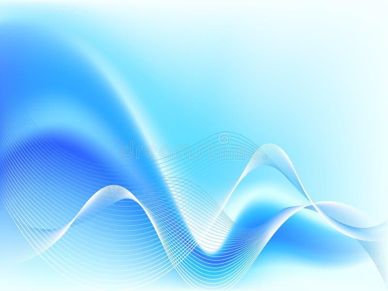 резюмируйте голубую волну иллюстрация вектора
