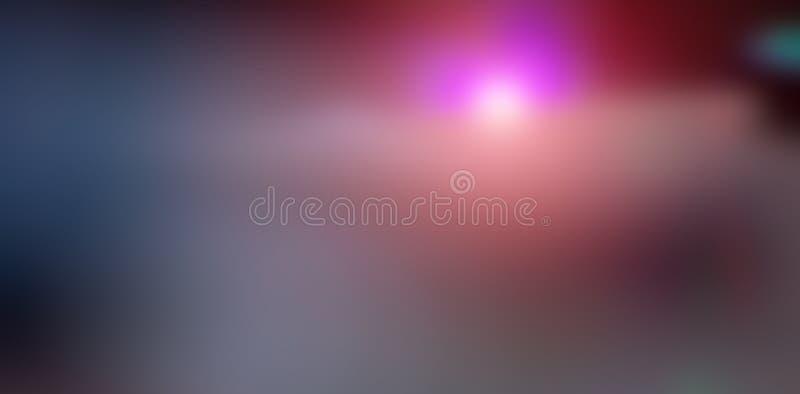 Резюмируйте запачканную предпосылку, вспышку оранжевого и фиолетового света дальше иллюстрация штока