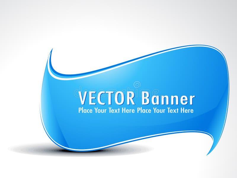 резюмируйте знамя cyan иллюстрация вектора