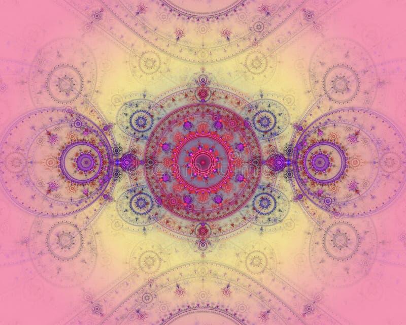 резюмируйте изображение фрактали цвета бесплатная иллюстрация
