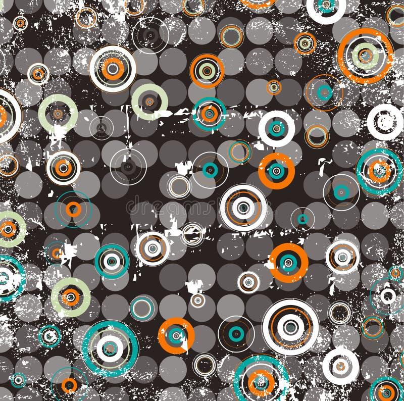 резюмируйте круговой растр иллюстрации конструкции иллюстрация вектора