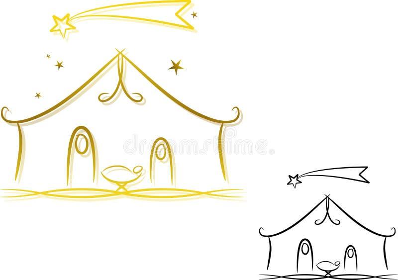 резюмируйте место рождества иллюстрация штока