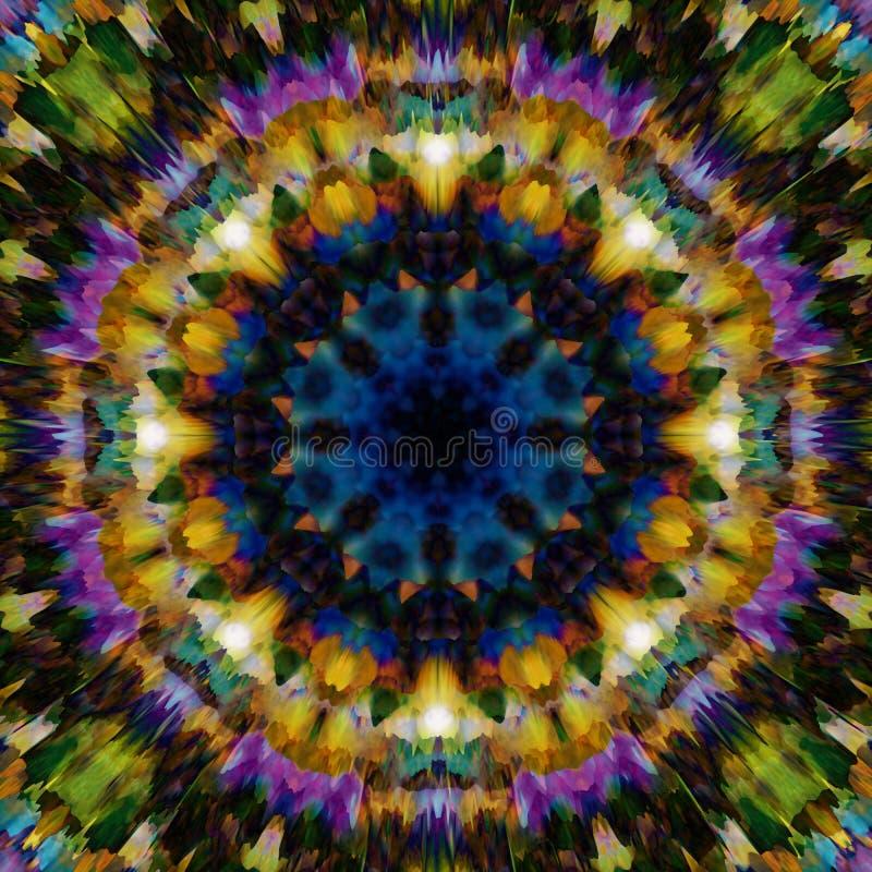 резюмируйте предпосылку флористическую Картина фантазии этническая Красочная текстура калейдоскопа Декоративный орнамент мандалы иллюстрация вектора