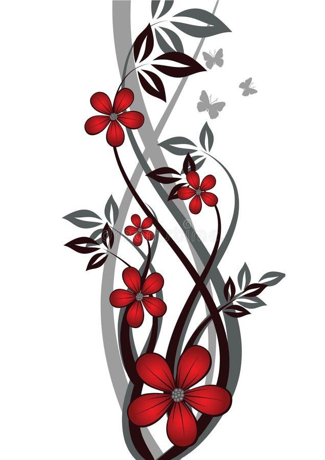 резюмируйте предпосылку флористическую иллюстрация вектора