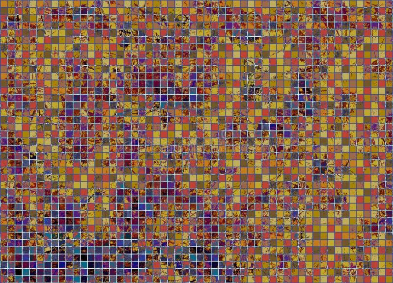 Резюмируйте предпосылку вычерченной акварели checkered яркую с царапиной и scratche в коричневых цветах бесплатная иллюстрация