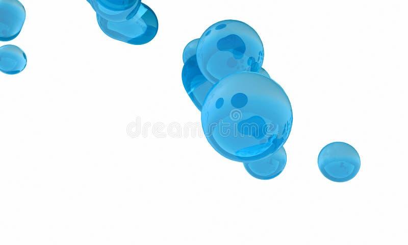 резюмируйте принципиальную схему aqua Голубая жидкость на белой предпосылке Жидкий st иллюстрация вектора