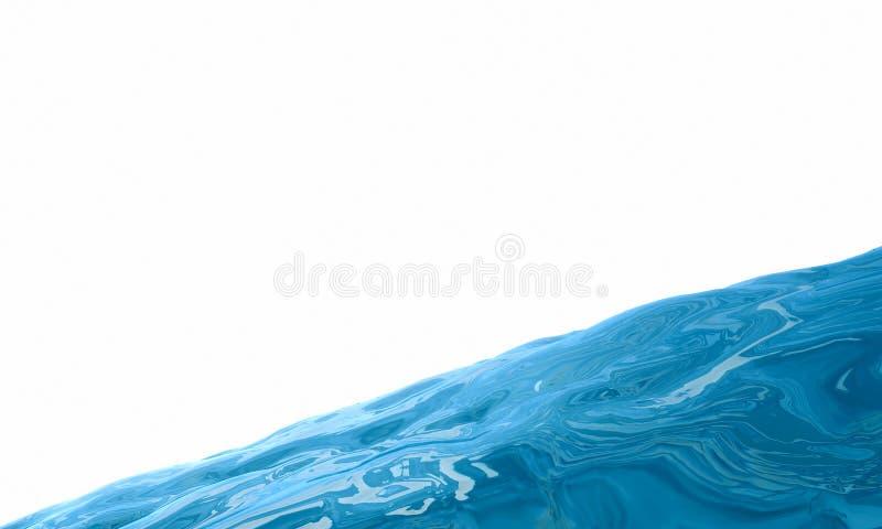 резюмируйте принципиальную схему aqua Голубая жидкость на белой предпосылке Жидкий st бесплатная иллюстрация