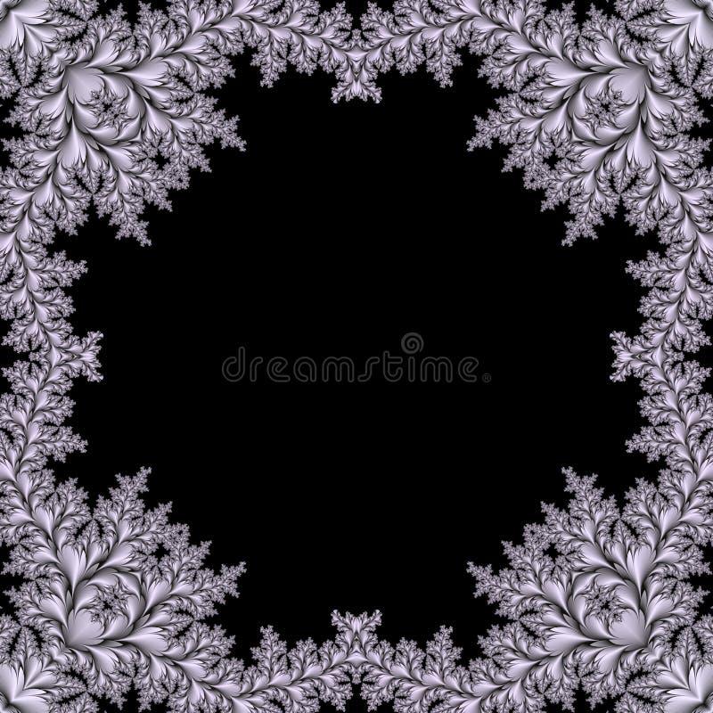 резюмируйте рамку фрактали иллюстрация вектора
