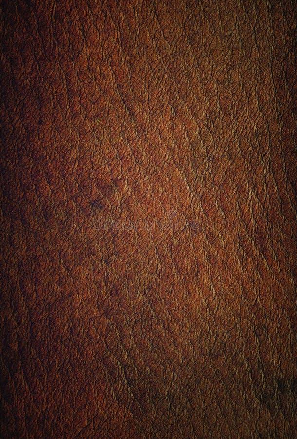 Резюмируйте сделанную по образцу текстуру от винтажной кожаной предпосылки коричневого цвета бесплатная иллюстрация