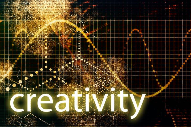 резюмируйте технологию творческих способностей иллюстрация вектора