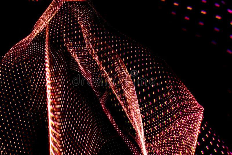 Резюмируйте трехмерные corporeal линии созданные со светлой крася фотографией Ресурс для дизайнеров бесплатная иллюстрация