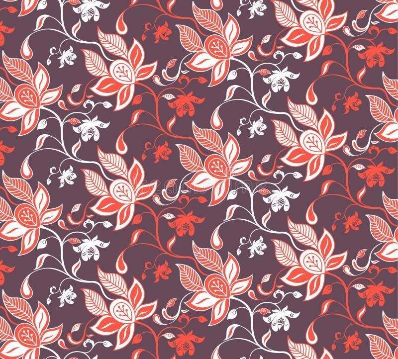 резюмируйте флористический красный цвет иллюстрация вектора